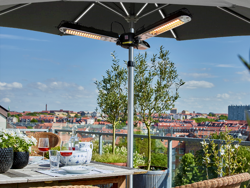 HORTUS Patio heater parasol 650/1300/2000W with remote